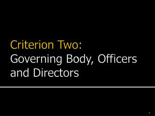 Expectations of Board Members Officers Executive Committee Committees Board Meetings