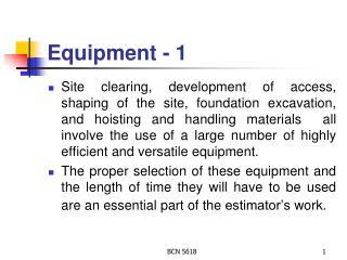 Equipment - 1