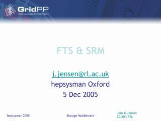 FTS & SRM