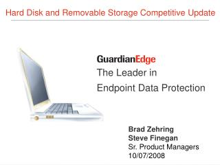The Leader in Endpoint Data Protection