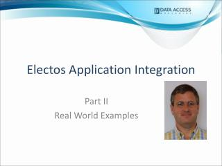 Electos Application Integration