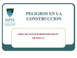 PELIGROS EN LA CONSTRUCCION