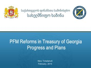 PFM Reforms in  Treasury of Georgia Progress and Plans