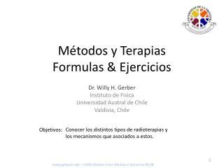 Métodos y Terapias Formulas & Ejercicios
