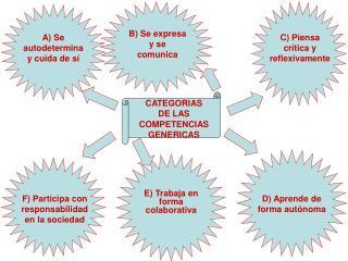 CATEGORIAS     DE LAS COMPETENCIAS GENERICAS