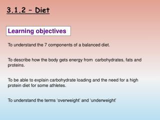 3.1.2 – Diet