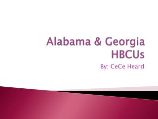 Alabama & Georgia HBCUs