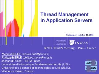 Thread Management in Application Servers