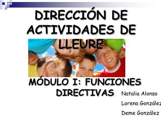 DIRECCIÓN DE ACTIVIDADES DE LLEURE