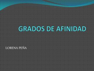 GRADOS DE AFINIDAD