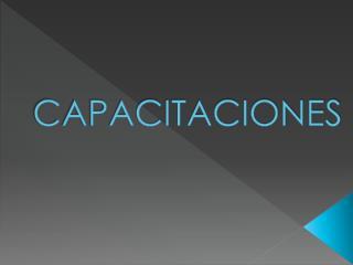 CAPACITACIONES