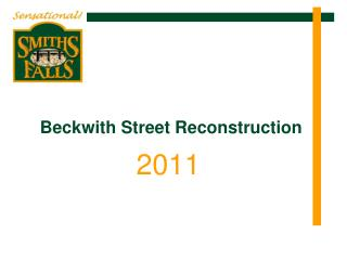 Beckwith Street Reconstruction