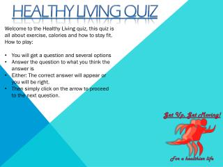 Healthy living quiz