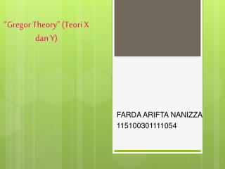 """ Gregor  Theory"" ( Teori  X  dan  Y)"