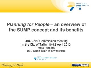 Planning for People  – an overview of the SUMP concept and its benefits