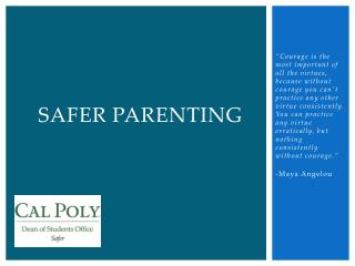 Safer Parenting