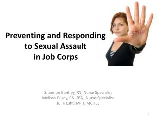 Preventing and Responding to Sexual Assault in Job Corps