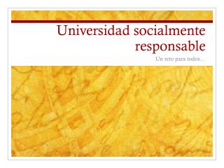 Universidad socialmente responsable