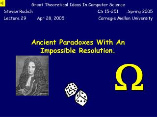 Ancient Paradoxes With An Impossible Resolution.