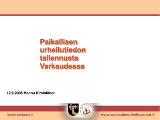 varkaus.fi      varkaudenurheiluseurat.fi