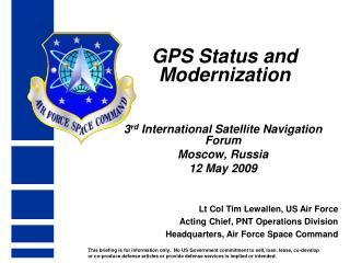 GPS Status and Modernization