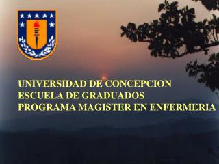UNIVERSIDAD DE CONCEPCION ESCUELA DE GRADUADOS PROGRAMA MAGISTER EN ENFERMERIA