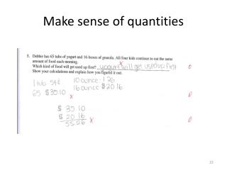 Make sense of quantities