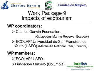 Work Package 9 Impacts of ecotourism