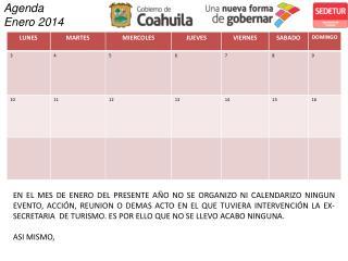 Agenda  Enero 2014