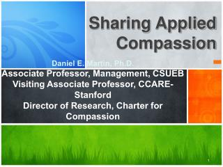 Sharing Applied Compassion