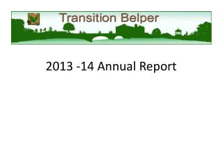 Transition Belper AGM Annual Report