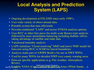 Local Analysis and Prediction System (LAPS)