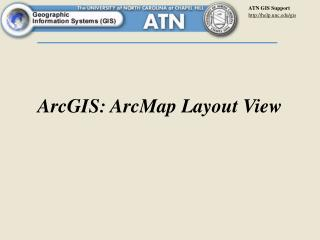 ArcGIS: ArcMap Layout View