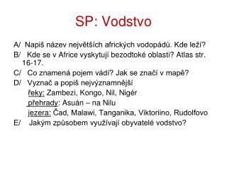 SP: Vodstvo