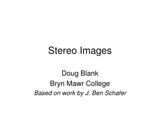 Stereo Images