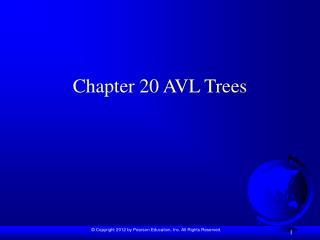 Chapter 20 AVL Trees