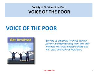 Society of St. Vincent de Paul  VOICE OF THE POOR