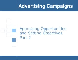 Appraising Opportunities and Setting Objectives Part 2