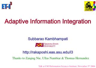 Adaptive Information Integration