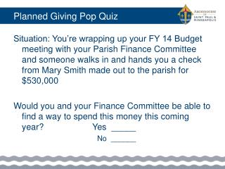 Planned Giving Pop Quiz