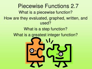 Piecewise Functions 2.7