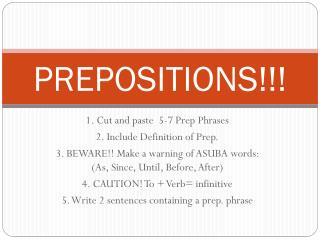 PREPOSITIONS !!!