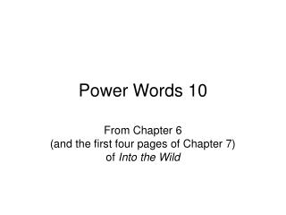 Power Words 10