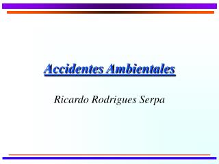 Accidentes Ambientales