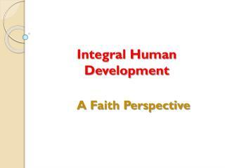 Integral Human Development