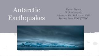 Antarctic Earthquakes