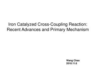 Iron Catalyzed Cross-Coupling Reaction: Recent Advances and Primary Mechanism