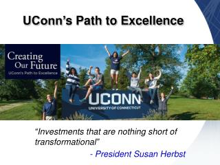 UConn' s Path to Excellence