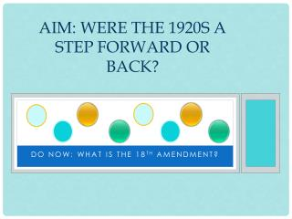 Aim: Were the 1920s a step forward or back?