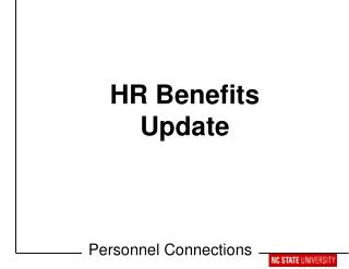 HR Benefits Update